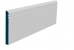 19 x 169mm Pre-Primed / Pre-Painted Wood Bevelled Double Shaker Skirting (5x2.4m)