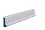19 x 69mm Pre-Primed / Pre-Painted Wood Lambs Tongue Architrave, inc. Hockey Stick (5x2.25m)