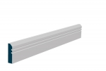 19 x 69mm Pre-Primed / Pre-Painted Wood Bevelled Double Shaker Architrave or Skirting (5x2.25m)