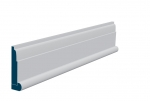 19 x 94mm Pre-Primed / Pre-Painted Wood Lambs Tongue Architrave, inc. Hockey Stick (5x2.25m)
