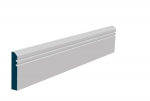 19 x 94mm Pre-Primed / Pre-Painted Wood Bevelled Double Shaker Architrave or Skirting (5x2.25m)