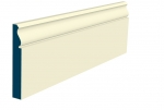 25 x 169mm Pre-Painted Wood Rushen Skirting - Ivory (5x2.4m)