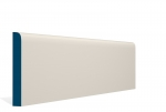19 x 144mm PRE-PAINTED Wood Bullnose Skirting - IVORY (5x2.4m)