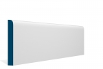19 x 144mm PRE-PAINTED Wood Bullnose Skirting - WHITE (5x2.4m)