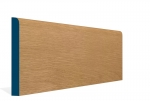 19 x 169mm Pre-Varnished Solid White Oak Bullnose Skirting (5x2.4m)