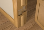 Pre-Varnished Solid White Oak FACED Door LINER (inc Ogee Door Stop)