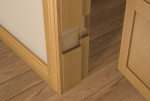 Pre-Varnished Solid White Oak FACED REBATED Door Frame