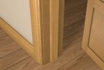 12 x 44 Pre-Varnished Solid White Oak Square Edge Door Stop (Single Door)