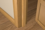 25 x 40 Pre-Varnished Solid White Oak Square Edge Door Stop (Single Door)