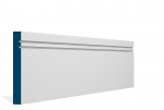 19 x 144mm PRE-PAINTED Wood Double Shaker Skirting - WHITE (5x2.4m)