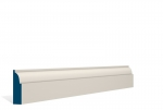 19 x 69mm PRE-PAINTED Wood Ovolo Architrave/Skirting - IVORY