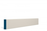19 x 69mm PRE-PAINTED Wood Pencil Edge Architrave/Skirting - IVORY