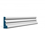 19 x 69mm PRE-PAINTED Wood Portmore Architrave, inc. Hockey Stick - WHITE