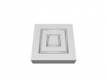Pre-Primed Wood Corner Blocks - Double Square (x4)