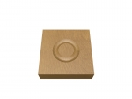 Pre-Varnished Solid White Oak Corner Blocks - Circle (x4)