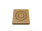 Pre-Varnished Solid White Oak Corner Blocks - Double Circle (x4)