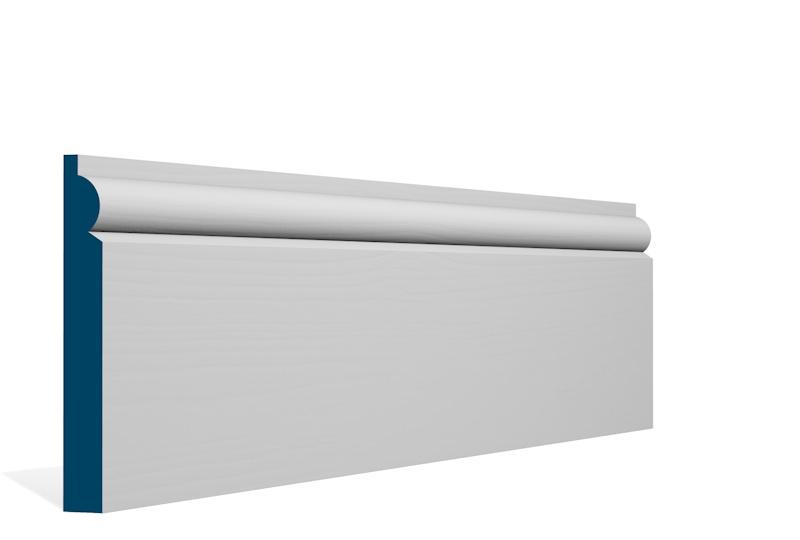 19 x 144 pre primed whitewood torus skirting boards diy for Wood skirting